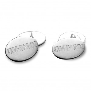 2-Hand engraved silver cufflinks