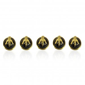 18K gold plated dragon claw shirt studs with Garnet