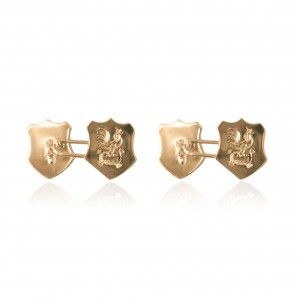 Hand engraved cufflinks in 9K yellow gold