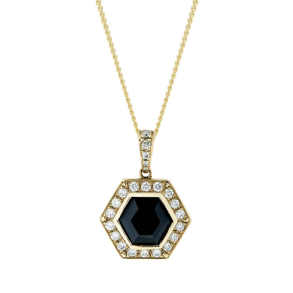 Gold cufflinks with diamonds