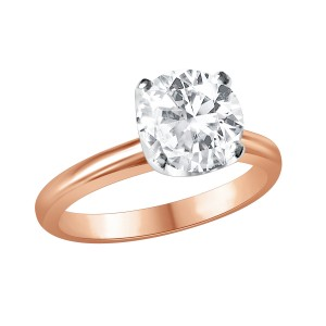 Old cut diamond and Rose Gold ring